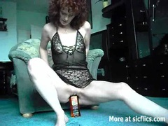 Extreme amateur fucks a whiskey bottle and cucumbers movies at freekilomovies.com
