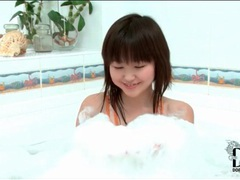 Skinny asian girl aliona takes a bath tubes at sgirls.net