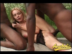 Skinny blonde fucked outdoors by black cocks videos