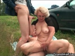 Horny mature takes dick in a field movies at adspics.com