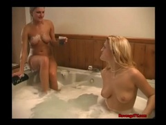 Cute girls kissing and eating pussy in hot tub movies at freekiloporn.com