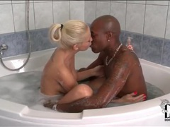 Blonde kissing and giving head to black man movies at find-best-panties.com