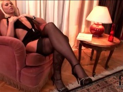 Super slutty dress on blonde in stockings movies at kilopics.net