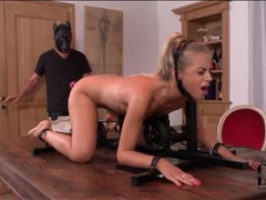Blonde in kinky bondage fucked by toy movies at sgirls.net