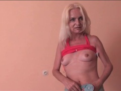 Skinny grandma wants you to see her pussy videos