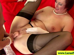 Mature strapon lesbians in stockings videos