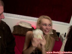 Real blonde dutch hooker gets oralsex tubes
