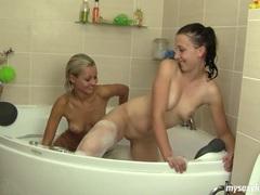 Lesbo teens sabrina and nicoleta masturbating movies at freekiloclips.com