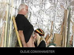 Old man is fucking his young blonde assistant movies at freekiloporn.com