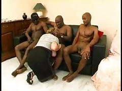 Busty woman with several men fuck movies at kilomatures.com
