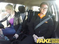 Fake driving school big tits student creampie and squirting tubes