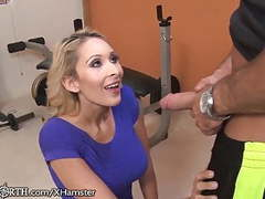 Stepmom seduces her stepson at the gym movies at freekiloporn.com