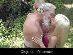 Old gross dick penetrating tiny young holes in the forest movies at freekiloclips.com