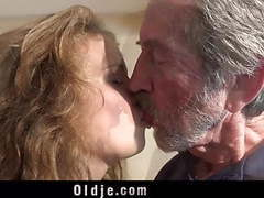 Playful sweet teen gives grandpa incredible sex videos