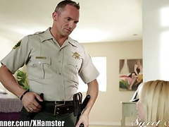 Sweetsinner teen gets eaten out by officer movies at freekiloporn.com