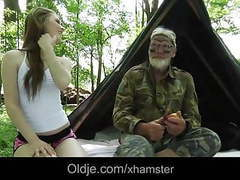 Solitary grandpa fucks blonde teeny in the forest movies at nastyadult.info