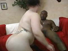 Chubby white chick with nice ass takes black dick movies