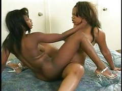 Ebony hotties licking pussies movies at freekilosex.com
