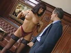Anita blonde seduces her boss tubes