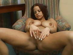 Sexy brunette with big tits solo. videos