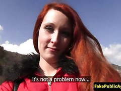 Redhead euro public fucked by fake agent videos