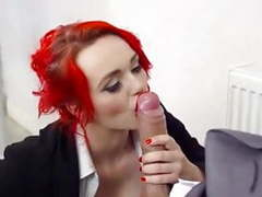 Redhead jasmine james sucks monster cock & gets facialized videos