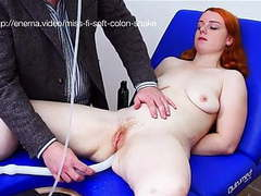 Miss fi takes an enema with the soft colon snake videos