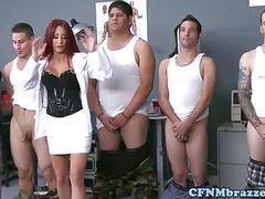 Dominating army babes cockriding in uniform tubes