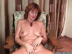 Mature redhead liddy gets finger fucked by photographer tubes
