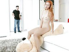 Exxxtrasmall - cute petite teen rides teddy till bf gets hom videos