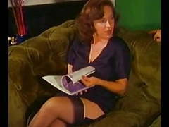 Vintage - redheaded mom does a younger man videos