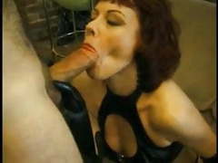 Hot mature redhead rubee tuesday wearing pvc movies at freekiloporn.com