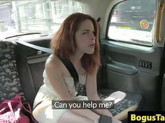 Redhead euro pussyfucked in taxi movies at freekiloporn.com