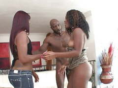 Hot black bitches have hardcore threesome fuck with a stud movies at kilotop.com