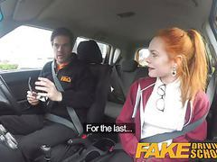 Fake driving school redhead ella hughes eats instructors cum videos
