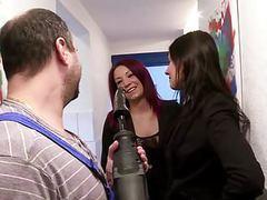 German redhead milf fix the handyman videos