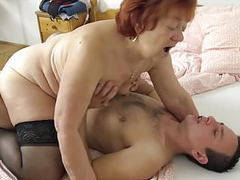 He loves gandmas old pussy! videos