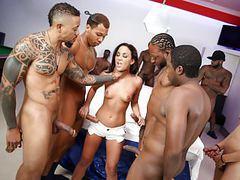 Interracial gangbang with anal slut amara romani movies at kilopics.com