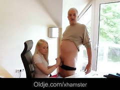 Old boss fucks hard his hot blonde secretary videos