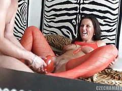 Czech amateurs - little brunette bitch shows her obsession tubes