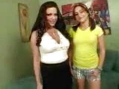 Sexy milf and her hot daughter's friend share a big cock movies at freekiloporn.com