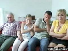 Older couple seduces newlyweds videos
