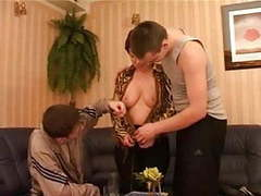 Russian mom and two lucky bastards videos