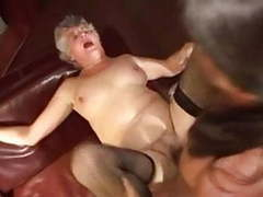 Two fat grannies gangbanged by young studs videos