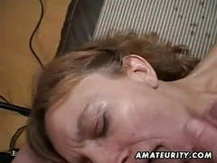 Amateur milf gets her ass and pussy toyed with facial cum videos