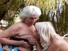Lesbian grannies fucking outdoors movies at freekilosex.com