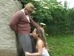 Stp5 grandpa takes care of her cute little bush ! movies at find-best-mature.com