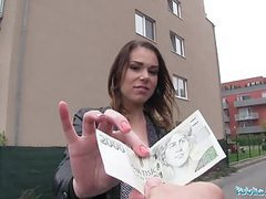 Public agent backseat creampie for jessica beil and her wet movies at kilosex.com