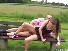 Outdoor fuck, german couple have fun videos