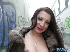 Public agent cutie fucked hard in abandoned public subway movies at freekilosex.com